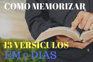 como memorizar versículos