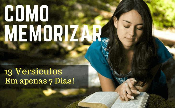 como memorizar versículos bíblicos
